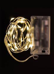 Salhiya Lighting 2-Meter String Decoration 20 LED Lights, Battery Operated, PL17665, Warm White