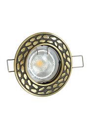 Salhiya Lighting Spotlight Frame, LED Bulb Type, Round Fixed, AL146A GAB, Bronze