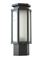 Salhiya Lighting Gate Top Light, E27 Bulb Type, Glass Diffuser, 1644A, Dark Grey