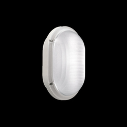 Lombardo Luce Mini Ovale 220 Outdoor Wall/Ceiling Light, E27 Bulb Type, LB53624, White