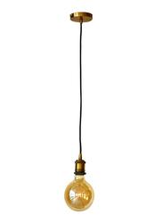Salhiya Lighting Veronica Suspension Indoor Metal Hanging Pendant Light, E27 Bulb Type, Retro Style, 60/19, Gold Copper