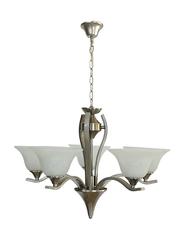 Salhiya Lighting Uplight Chandelier, E27 Bulb Type, 5 Arms, 7013, Satin Nickel