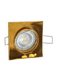 Salhiya Lighting Spotlight Frame, GU10 Bulb Type, Square Movable, AL229BPG, Gold