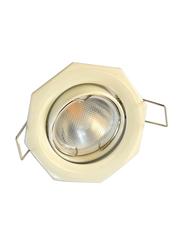 Salhiya Lighting Spotlight Frame, GU10 Bulb Type, Octagon Movable, Cast Aluminum, AL2298, White