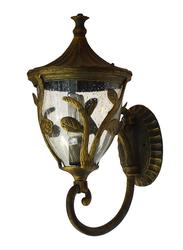 Salhiya Lighting Outdoor Wall Light, E27 Bulb Type, WU IP44, Medium, 0089, Black Gold