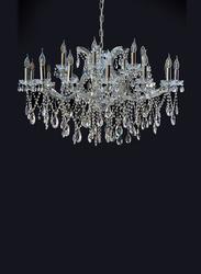 Salhiya Lighting Candle Crystal Chandelier, E14 Bulb Type, 22 Arms, WTAL80043, Silver
