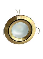 Salhiya Lighting Spotlight Frame, GU10 Bulb Type, Round Fixed, AL328 (ORM MR16) GAB, Gold
