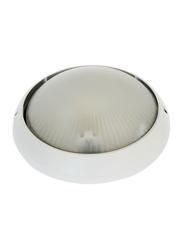 Salhiya Lighting Indoor/Outdoor Wall Bulkhead Light, E27 Bulb Type, P851, White
