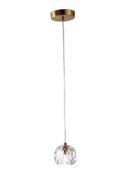 Salhiya Lighting Modern Margarette Clear Glass Light, Rose Gold