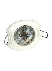 Salhiya Lighting Spotlight Frame, GU10 Bulb Type, Oval Fixed, 0582G/0806, White