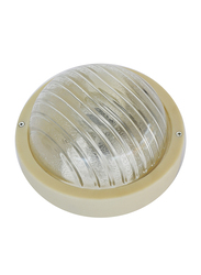 Salhiya Lighting Indoor/Outdoor Wall Bulkhead Light, E27 Bulb Type, PA402, White