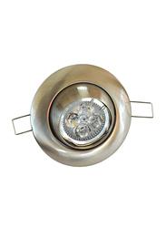 Salhiya Lighting Spotlight Frame, GU10 Bulb Type, Round Movable, AL3028N, Chrome