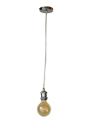 Salhiya Lighting Veronica Suspension Indoor Metal Hanging Pendant Light, E27 Bulb Type, Retro Style, 63/19, Nickel