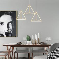 Salhiya Lighting Modern Triangle LED Light, 45W, TPLD2017LT05-705, Gold