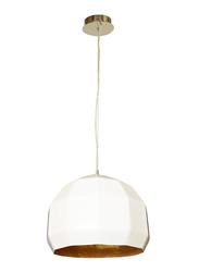 Salhiya Lighting Bowl Ceiling Pendant Light, E27 Bulb Type, D130526D400, White