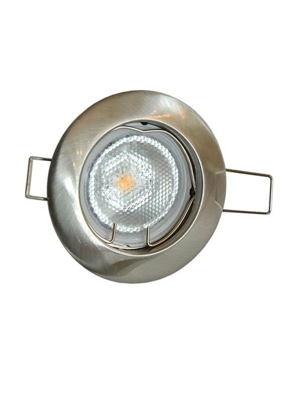 Salhiya Lighting Spotlight Frame, LED Bulb Type, Round Fixed, AL146NM, Chrome