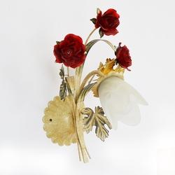 Salhiya Lighting Indoor Flower Wall Light, E27 Bulb Type, W0882/1, White/Red