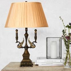 Salhiya Lighting Table Lamp, E27 Bulb Type, T12226, Bronze/Beige