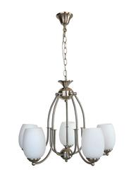 Salhiya Lighting Uplight Chandelier, E27 Bulb Type, 5 Arms, 5216, 01SL00, Satin Nickel