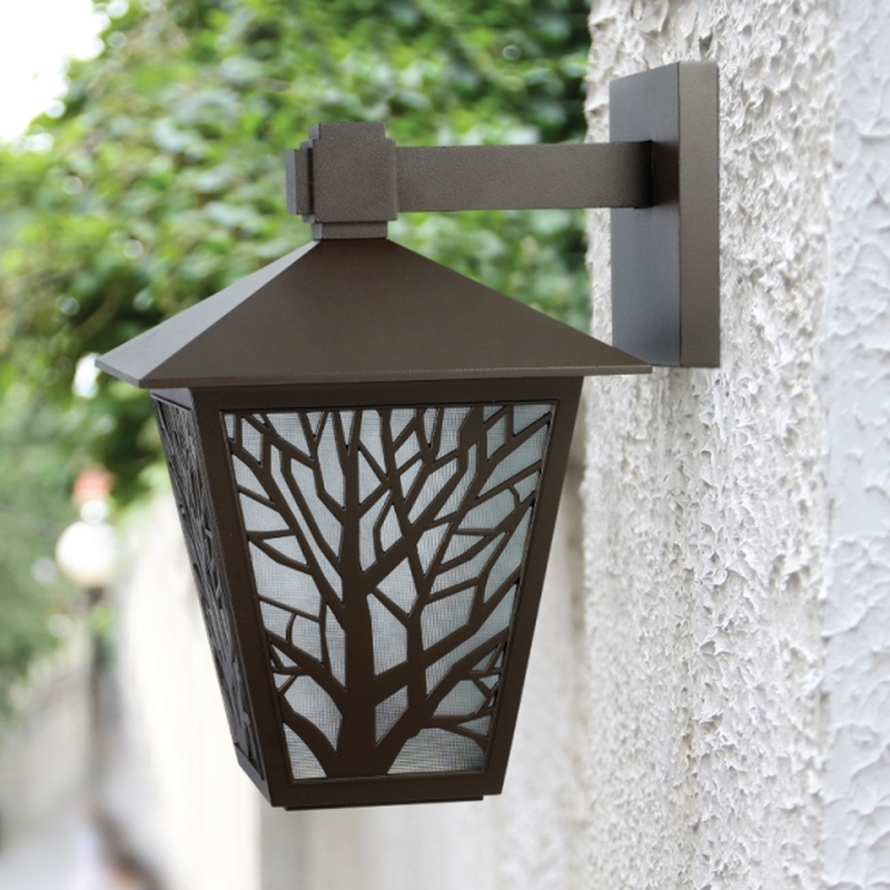 Salhiya Lighting Indoor/Outdoor Wall Light, E27 Bulb Type, Glass Diffuser, 146102, Black