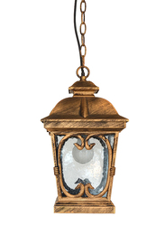Salhiya Lighting Outdoor Hanging Ceiling Light, E27 Bulb Type, Small, OH4601S, Black/Gold