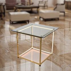 Salhiya Lighting Table Lamp, Glass LED 23W, Warm White, TT20160912-450, Gold