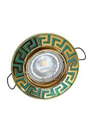 Salhiya Lighting Spotlight Frame, LED Bulb Type, Round Frame, 0731G/090809, Green