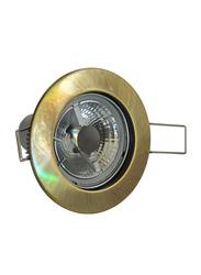 Salhiya Lighting Spotlight Frame, LED Bulb Type, Round Fixed, AL328 (ORM MR16) GAB, Gold