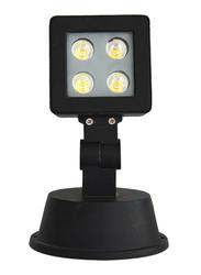 Salhiya Lighting Outdoor Spot Spike Light, LED Bulb Type, 4 x 1W, 1134, Warm White, Black