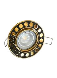 Salhiya Lighting Spotlight Frame, LED Bulb Type, Movable Round, 0781G/09-0818, Gold/Black