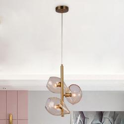 Salhiya Lighting Modern Jonalie Glass Pendant Lights, D340H565mm, Gold