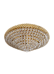 Salhiya Lighting Indoor Crystal Ceiling Light, E14 Bulb Type, Diameter 80, 948, Gold