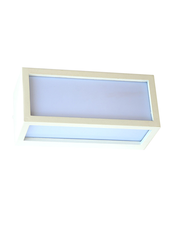 Salhiya Lighting Indoor/Outdoor Up & Down Wall Light, LED Bulb Type, 5702, White