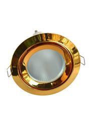 Salhiya Lighting Spotlight Frame, LED Bulb Type, Round Fixed, Zamak, AL328NMR16, Gold