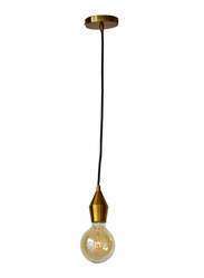 Salhiya Lighting Veronica Suspension Indoor Metal Hanging Pendant Light, E27 Bulb Type, Retro Style, 65/19, Gold Copper