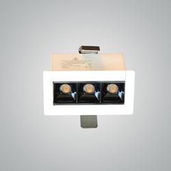 Euroluce 3Heads Ceiling Downlight, LED Bulb Type, 6W, CF4003, 3000K-Warm White