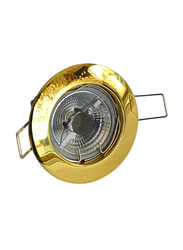 Salhiya Lighting Spotlight Frame, LED Bulb Type, Round Fixed, AL146, Gold