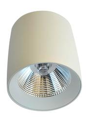 Euroluce Spotlight Frame, LED Bulb Type, Surface Mounted, 10W Cree, LC1312, Matt White