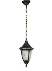 Salhiya Lighting Outdoor Hanging Ceiling Light, E27 Bulb Type, 18x33 cm, 871/1H, Black