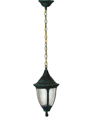 Salhiya Lighting Outdoor Hanging Ceiling Light, E27 Bulb Type, 871/1H, Green/Black