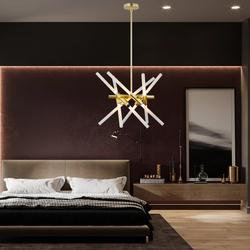 Salhiya Lighting Modern Stylish Hanging Light, MD21362-12Y-730/LQT, G9x12 Braches, Bronze