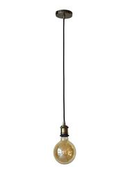 Salhiya Lighting Veronica Suspension Indoor Metal Hanging Pendant Light, E27 Bulb Type, Metal, Retro Style, Ching Copper