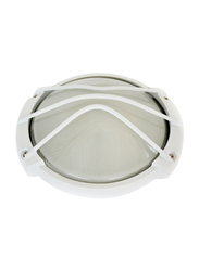 Salhiya Lighting Indoor/Outdoor Wall Bulkhead Light, E27 Bulb Type, P823, White