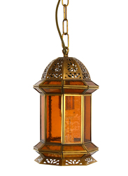 Salhiya Lighting Indoor Arabic Hanging Light, E27 Bulb Type, DT013, Brass