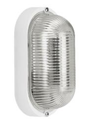Lombardo Tartaruga Ovale 200 Senza Gabbia Outdoor Wall/Ceiling Light, E27 Bulb Type, LB44521, White