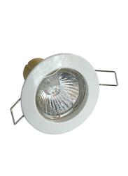 Salhiya Lighting Spotlight Frame, LED Bulb Type, Round Fixed, AL146, White