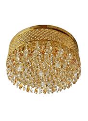 Salhiya Lighting Indoor Crystal Ceiling Light, E14 Bulb Type, Diameter 70, KJ602001B/5C, Gold