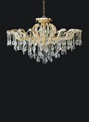 Salhiya Lighting Crystal Chandelier, E14 Bulb Type, 12 Arms, MX6855, Gold