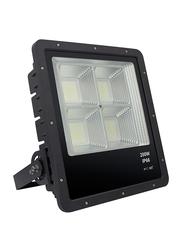 Salhiya Lighting LED Flood Light, 200W, IP66, TG50, 3000K-Warm White, White/Black