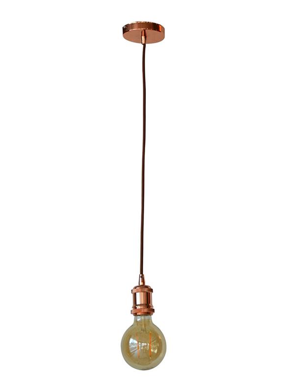 Salhiya Lighting Veronica Suspension Indoor Metal Hanging Pendant Light, E27 Bulb Type, Retro Style, 64/19, Red Copper